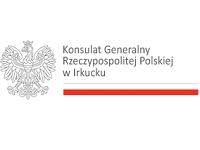 Logo Konsulatu Generalnego Rzeczypospolitej Polskiej w Irkucku