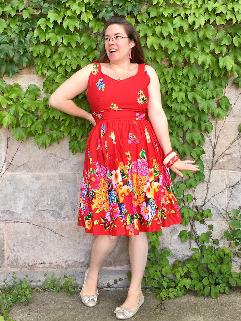 hearts and found elizabeth dress russian red print