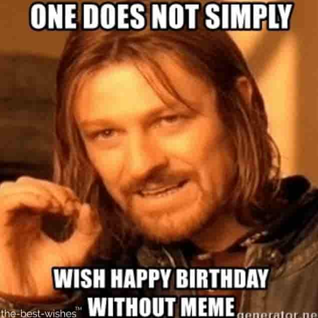 boromir happy birthday humor memes one does not simply