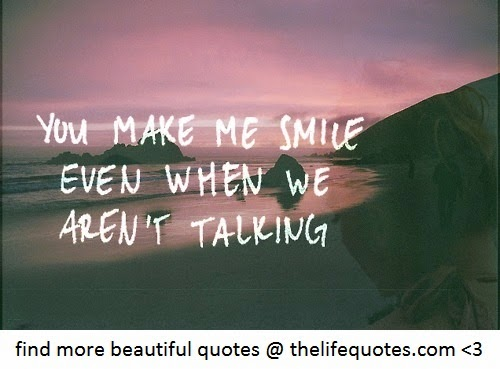 Quotes About Talking To You Makes Me Smile. QuotesGram