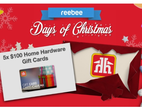 Reebee $100 Home Hardware Gift Card Days of Christmas Contest
