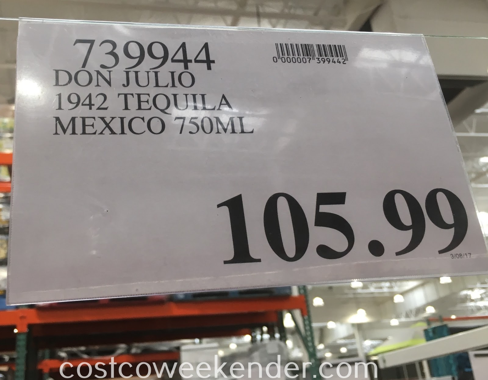 Deal for the Don Julio 1942 Tequila at Costco