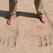 Уфологи приписывают гигантские следы в храме Айн-Дара в Сирии пришельцам