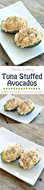Clean Eating Tuna Stuffed Avocado Recipe