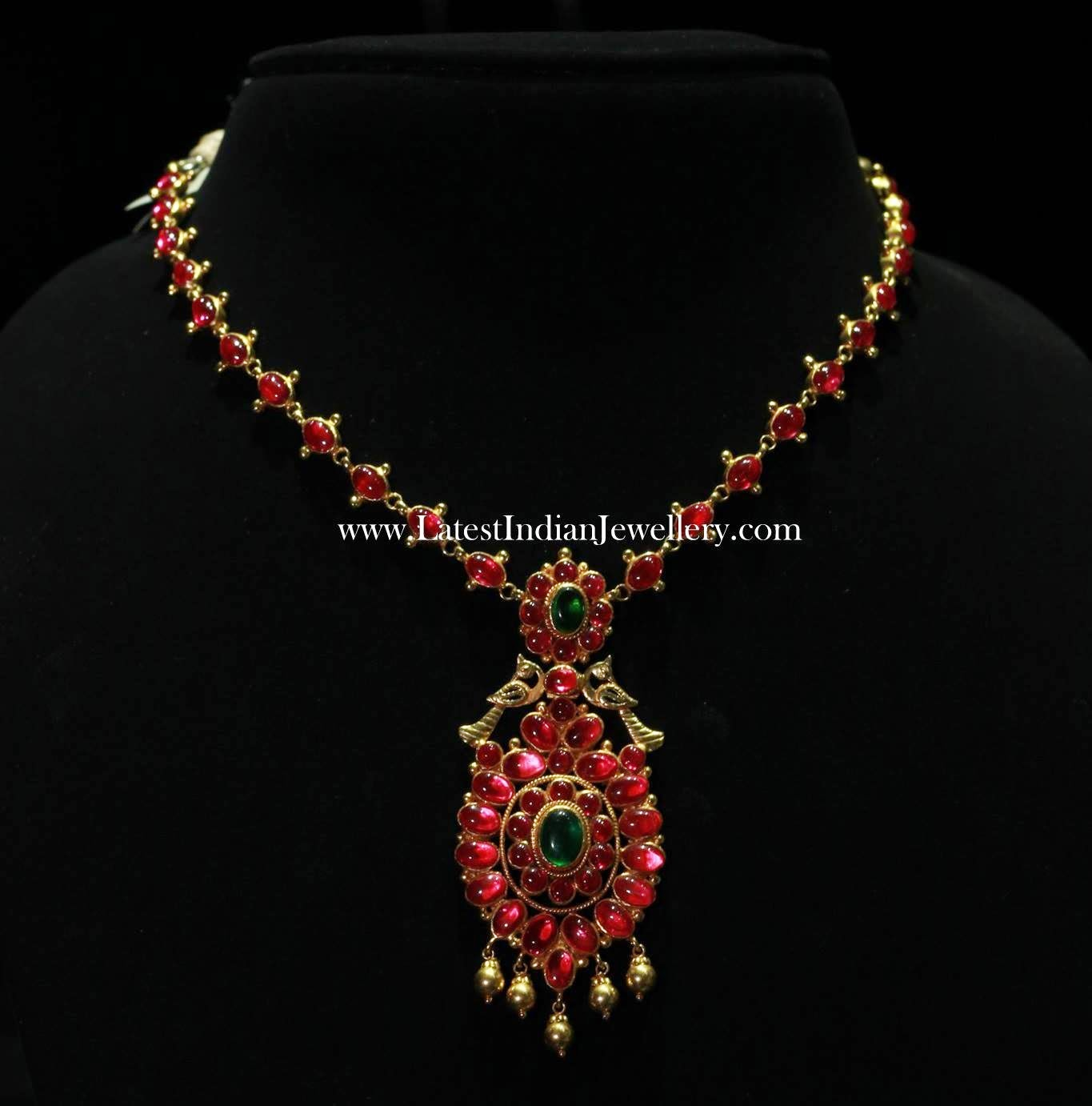 Burmese Rubies Traditional Gold Jewellery