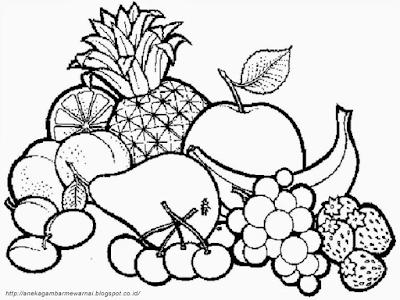 Gambar Mewarnai Buah-buahan Dalam Keranjang (3)