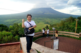 Mount Mayon from Lignon Hill
