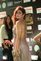 Telugu Actress Aarthi in Deep Neck Backless Golden Gown at IIFA Utsavam Awards 2017 Exclusive 11.JPG