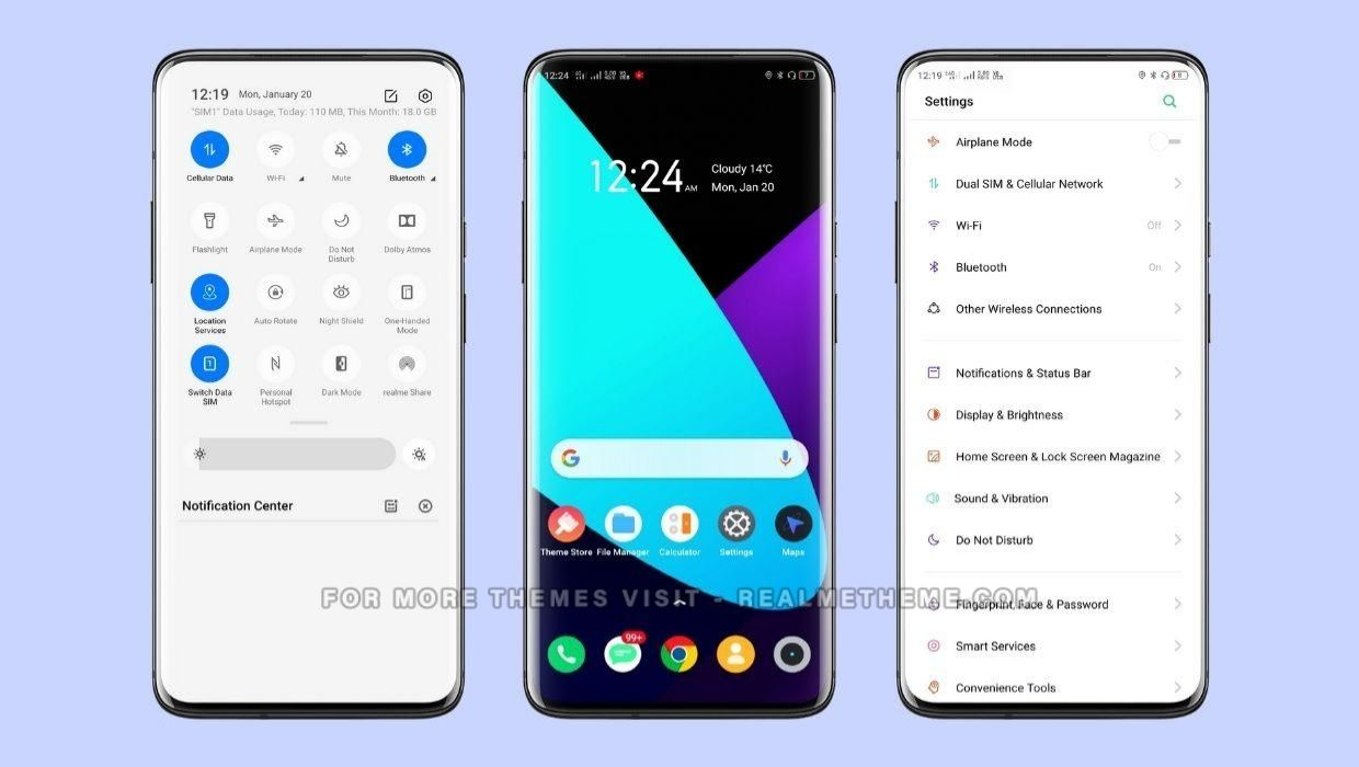 Realme UI Theme for Oppo and Realme Devices