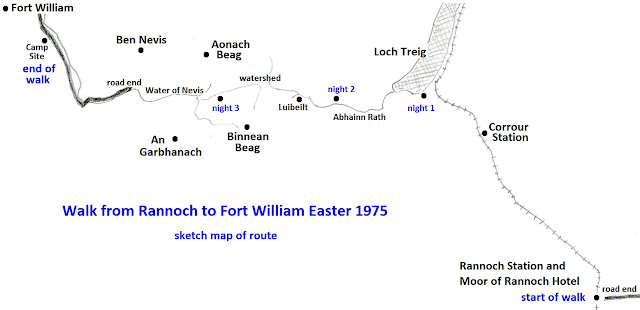 Route: Rannoch to Fort William