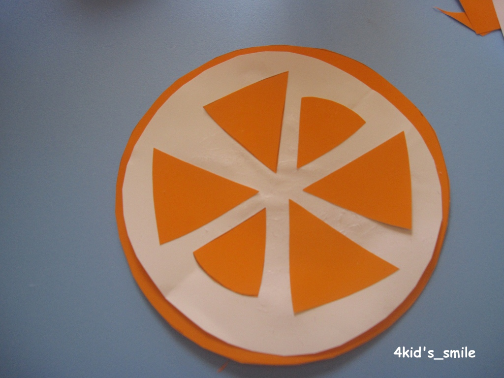4kid S Smile Orange Craft Fruity Project