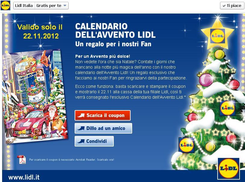 Lidl Calendario Avvento.Vivi Low Cost Calendario Dell Avvento Gratis