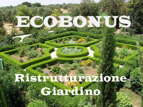 ecobonus sgravi fiscali per ristrutturazione giardini