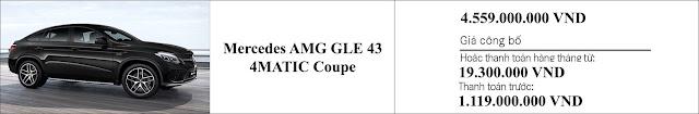 Giá xe Mercedes AMG GLE 43 4MATIC 2019 hấp dẫn bất ngờ