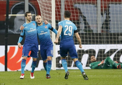 Highlight AC Milan 0-2 Arsenal, 9 Maret 2018