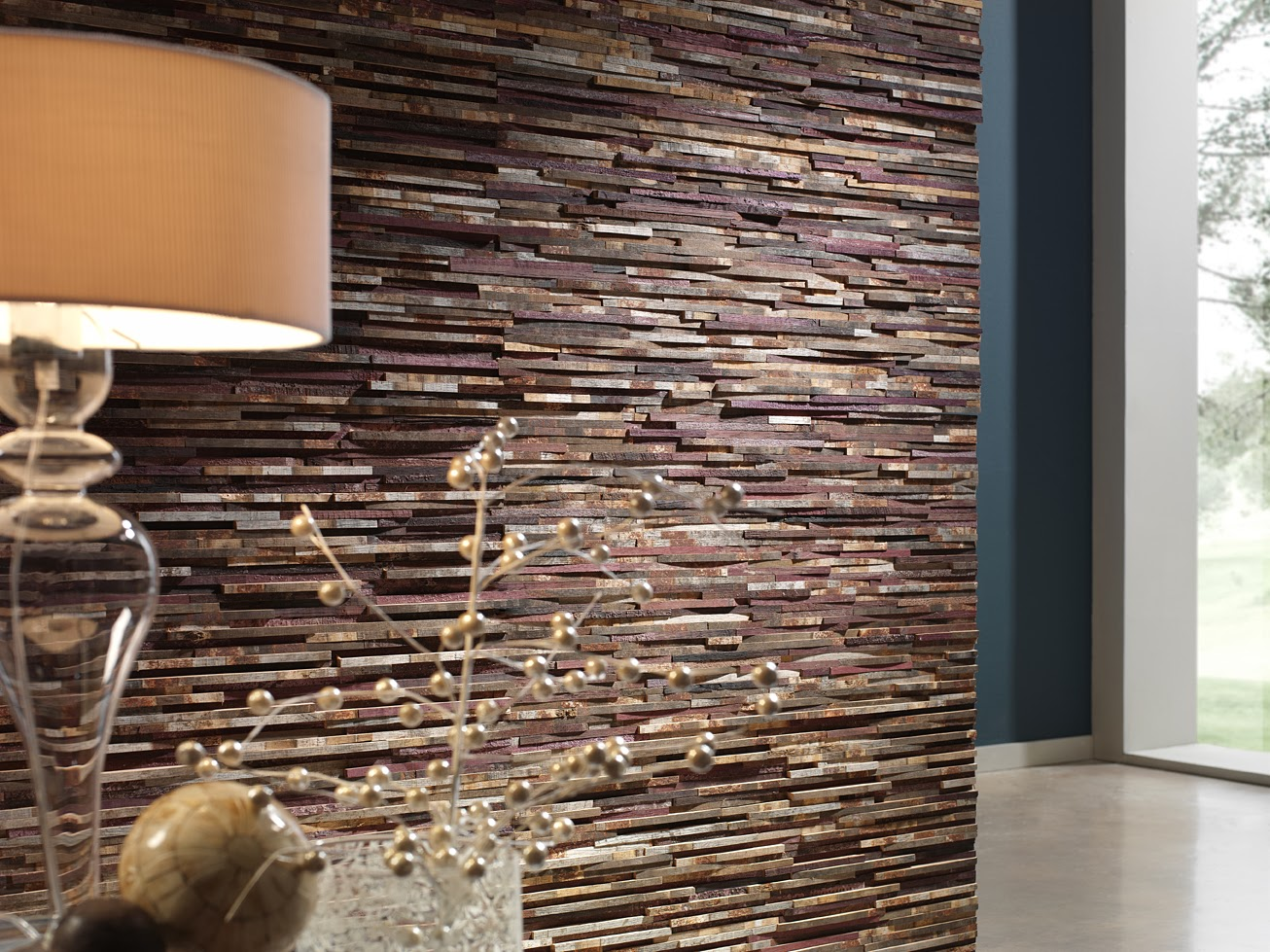 Brick, Slate Effect, Faux Stones, Wall Coverings, Wall Panels, Contemporary  Interior