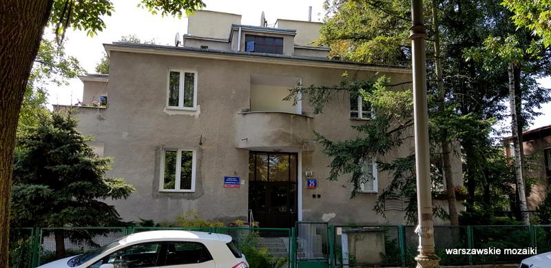 Warszawa Warsaw Saska Kępa Praga Południe ulice Saskiej Kępy modernizm funkcjonalizm architektura