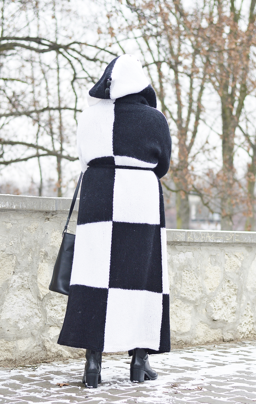 Black and white winter, Winter trends, Winter 2018, Hand made woolen coat