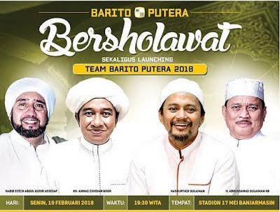 Barito Putera Bersholawat dan Launching Tim Tahun 2018