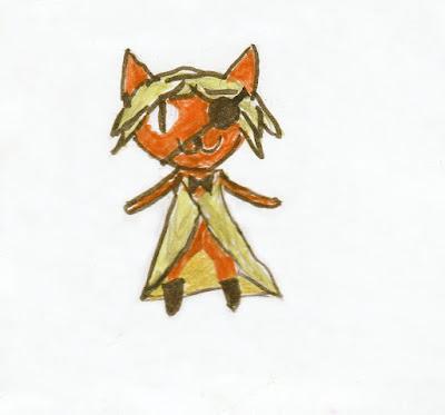 """котик - пират, Билл Шифр из """"Гравити Фолз"""", детский рисунок"""