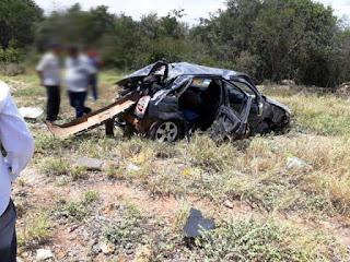 Pessoas ficam feridas após acidente