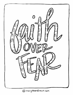 Faith Over Fear Screensaver Coloring Page