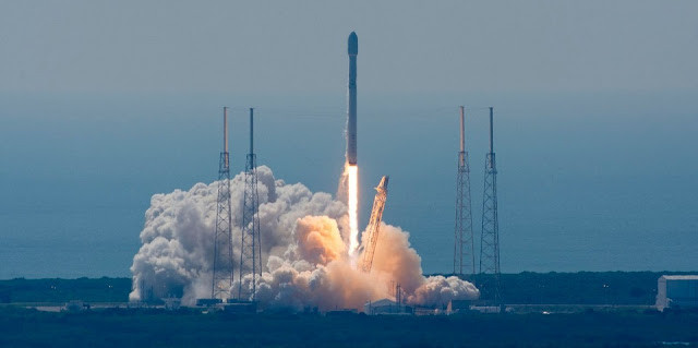 SpaceX successfully launched the ABS-2A and Eutelsat 117 West B telecommunications satellites at 10:29 a.m. EDT (14:29 GMT) on Wednesday, June 15. Photo Credit: SpaceX