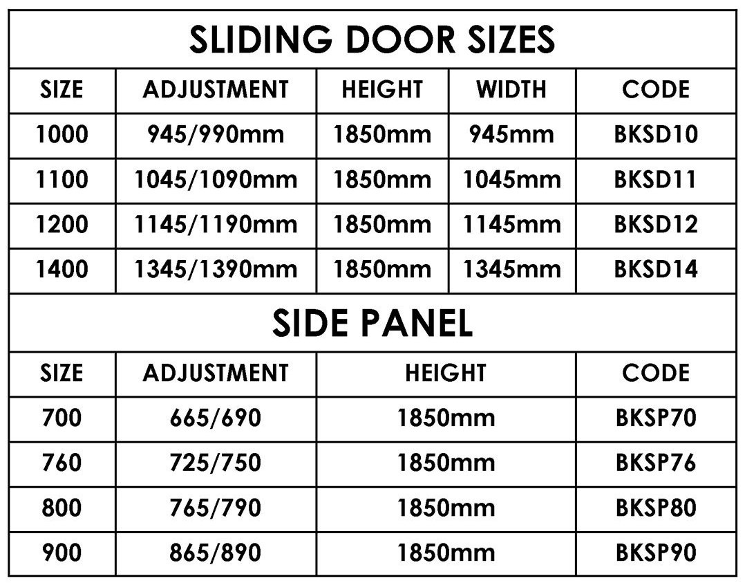 sliding patio door sizes