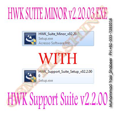 hwk support suite setup v02.20