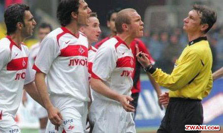 Funny Football Player And Referee
