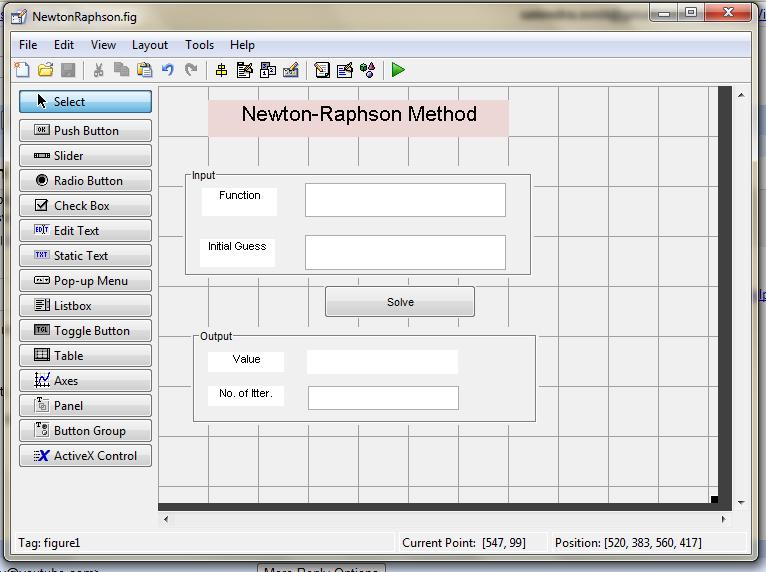 Newton-Raphson: A GUI method   Tech - Art