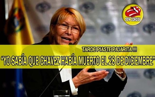 Tarde piaste! Luisa ortega Díaz asegura que sabía de la muerte de Chavez desde el 28 de diciembre
