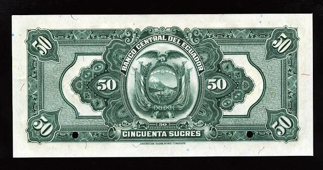 Billete Ecuador cincuenta Sucres