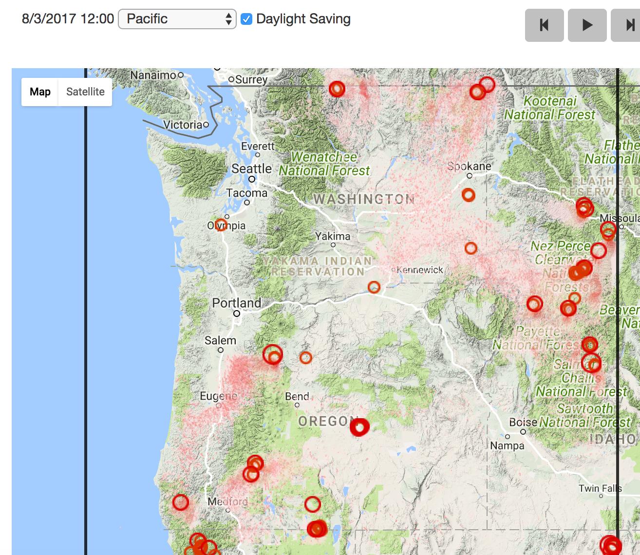 Oregon Smoke Information - Map of western oregon