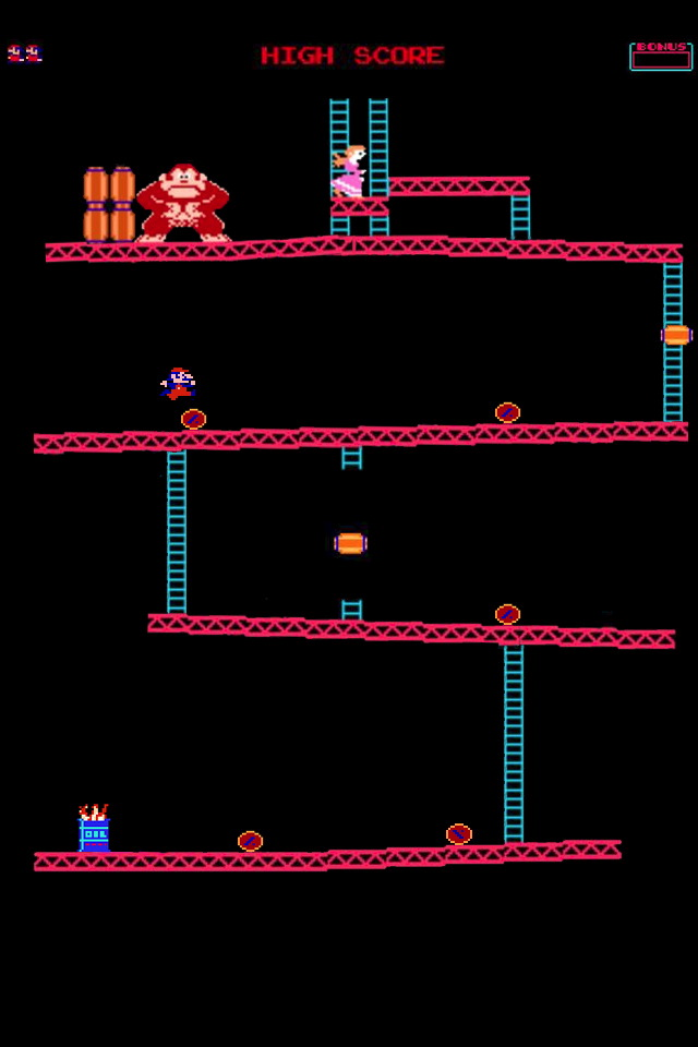 Donkey Kong - iPhone 4 Wallpaper - Pocket Walls :: HD iPhone Wallpapers