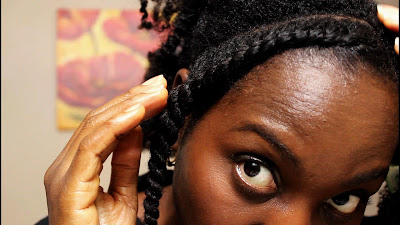 How to Flat Twist Out Natural Hair with a TRICK | TGIN Butter cream Daily Moisturizer