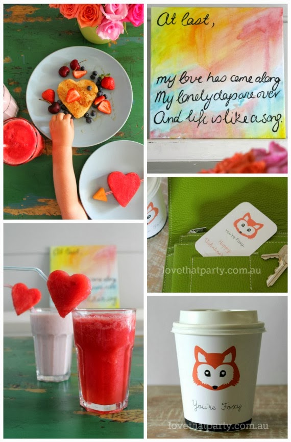 5 Creative DIY Valentine's Day Ideas. Cute fox FREE PRINTABLES. www.lovethatparty.com.au
