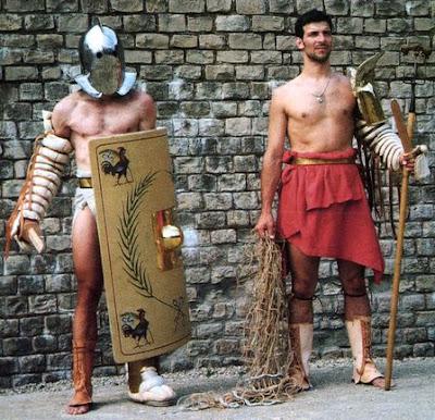 modern gladiator reenactor