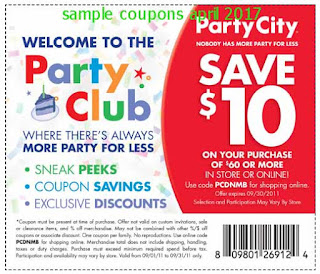 Party City coupons april