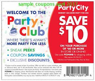 Party City coupons april
