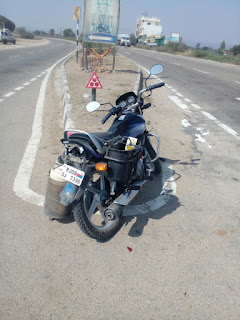 रामगंज बालाजी बुंदी मे बाइक सवार युवक को स्विफ्ट ने मारी टक्कर युवक हुआ घायल