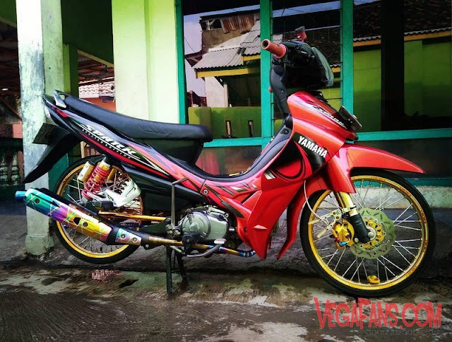 Jupiter Z Merah Modif Simple