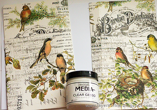 Layers of ink - Aviary Sketch Storage Holder tutorial by Anna-Karin Evaldsson with Eileen Hull Sizzix dies.