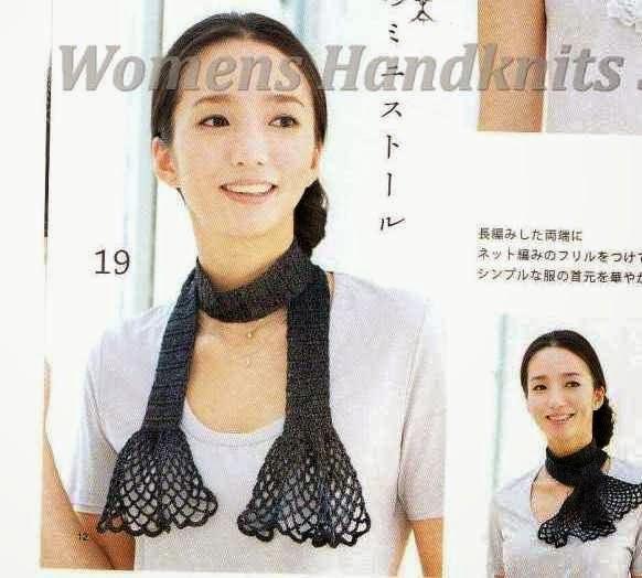 Bufanda Crochet con Volantes Patron