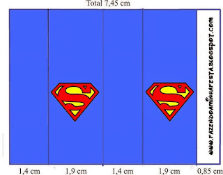 Etiquetas de Símbolo de Superman para imprimir gratis.