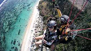 paragliding adventures bali timbis beach