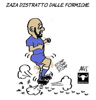 zaza, italia germania, euro 2016, calcio, sport, umorismo, vignetta