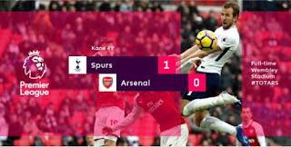 Video Gol Tottenham Hotspur vs Arsenal 1-0