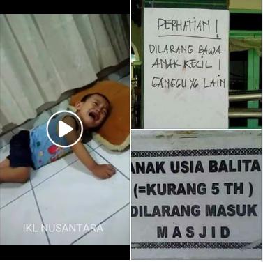 Sadis, di Desa Ini Anak-anak Dilarang Masuk Kedalam Masjid.