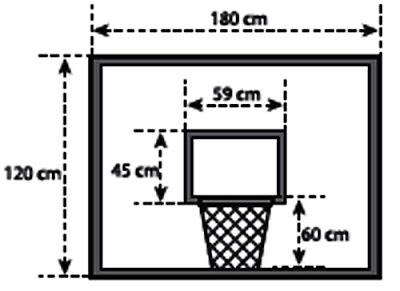 Gambar ukuran ring bola basket standar tampak depan